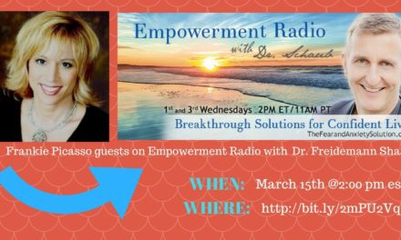 Frankie Picasso Guests on Dr. Friedemann's Empowerment Radio Show, March 15th