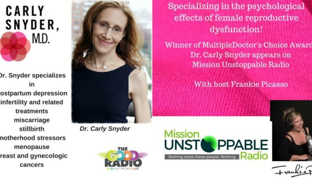 Dr Carly Snyder- Specializing in the Psycological Effects of Womens Peri Emotional Struggles