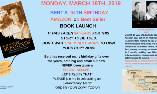 FRANKIE'S Latest BOOK ON SALE NOW!! CELEBRATE MY DAD'S BIRTHDAY on  AMAZON BOOK DAY, March 18