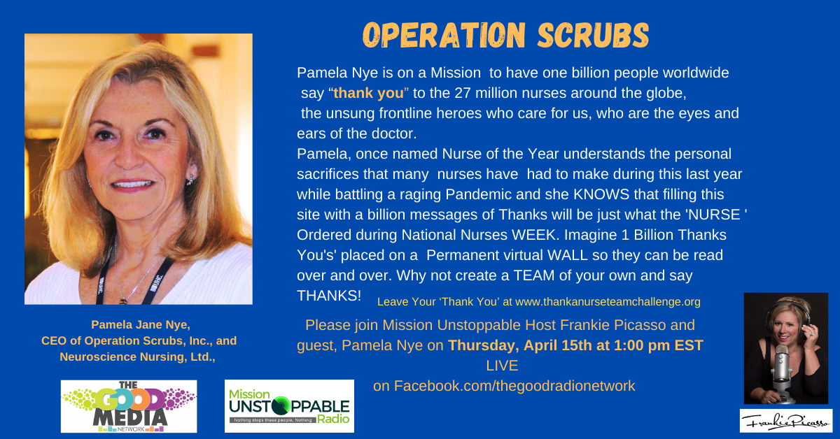 OPERATION SCRUBS and 1 BiLLION Thank You's